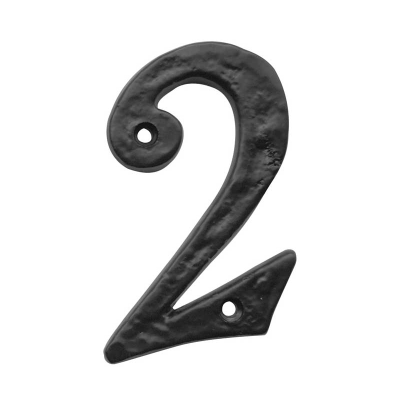 JAB15-0 Numeral 0 - 100mm Black Antique