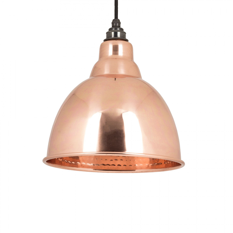 Brindley Pendant Hammered Copper Hammered Copper