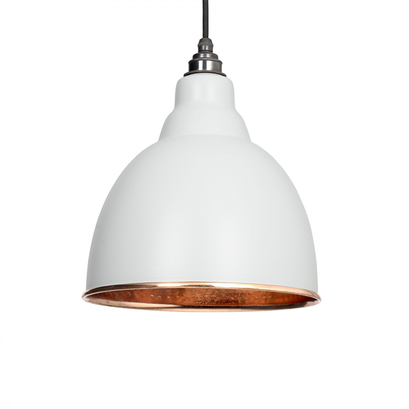 Brindley Pendant Hammered Copper Light Grey & Copper