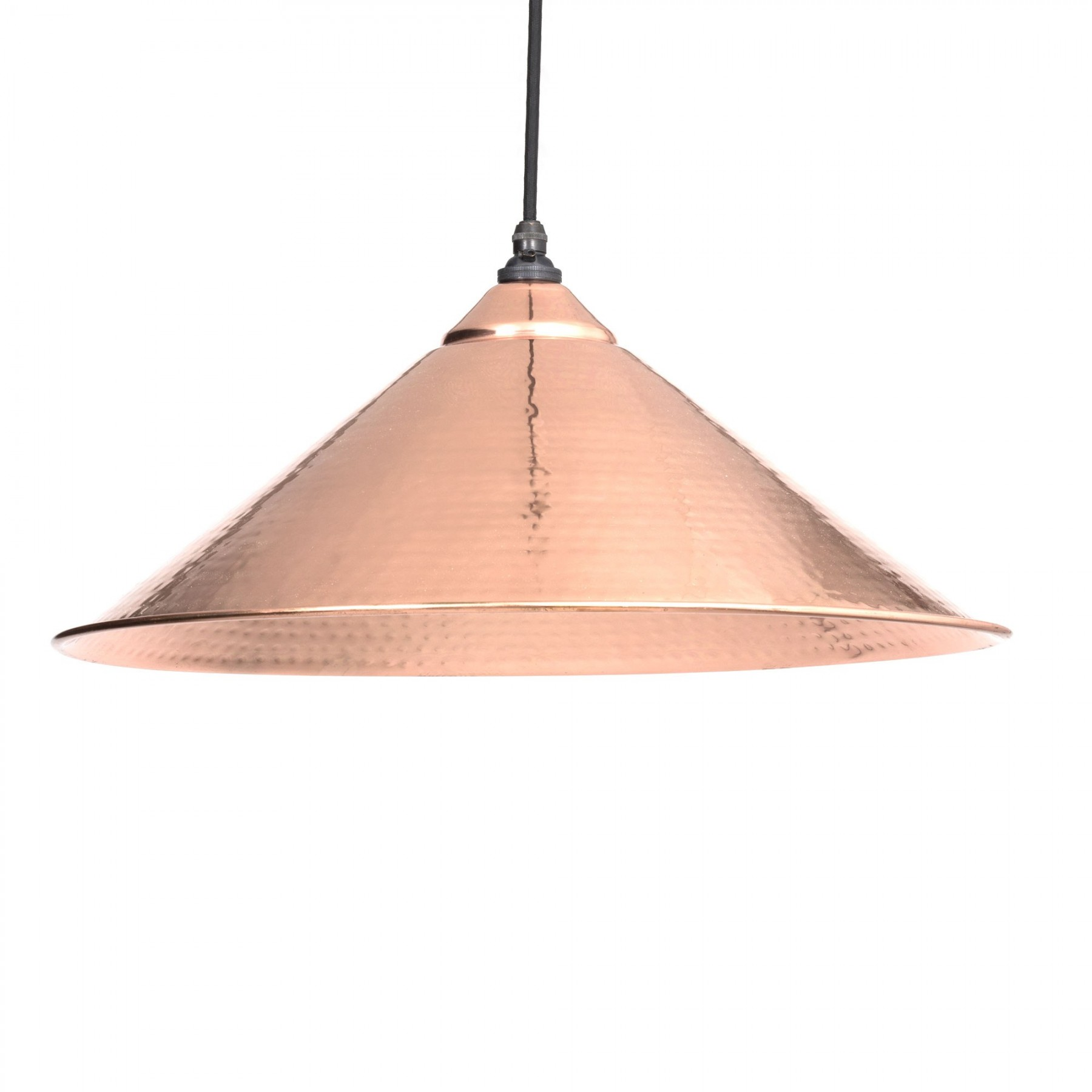 Yardley Pendant Hammered Copper 460mm Dia, 210mm Height Hammered Copper