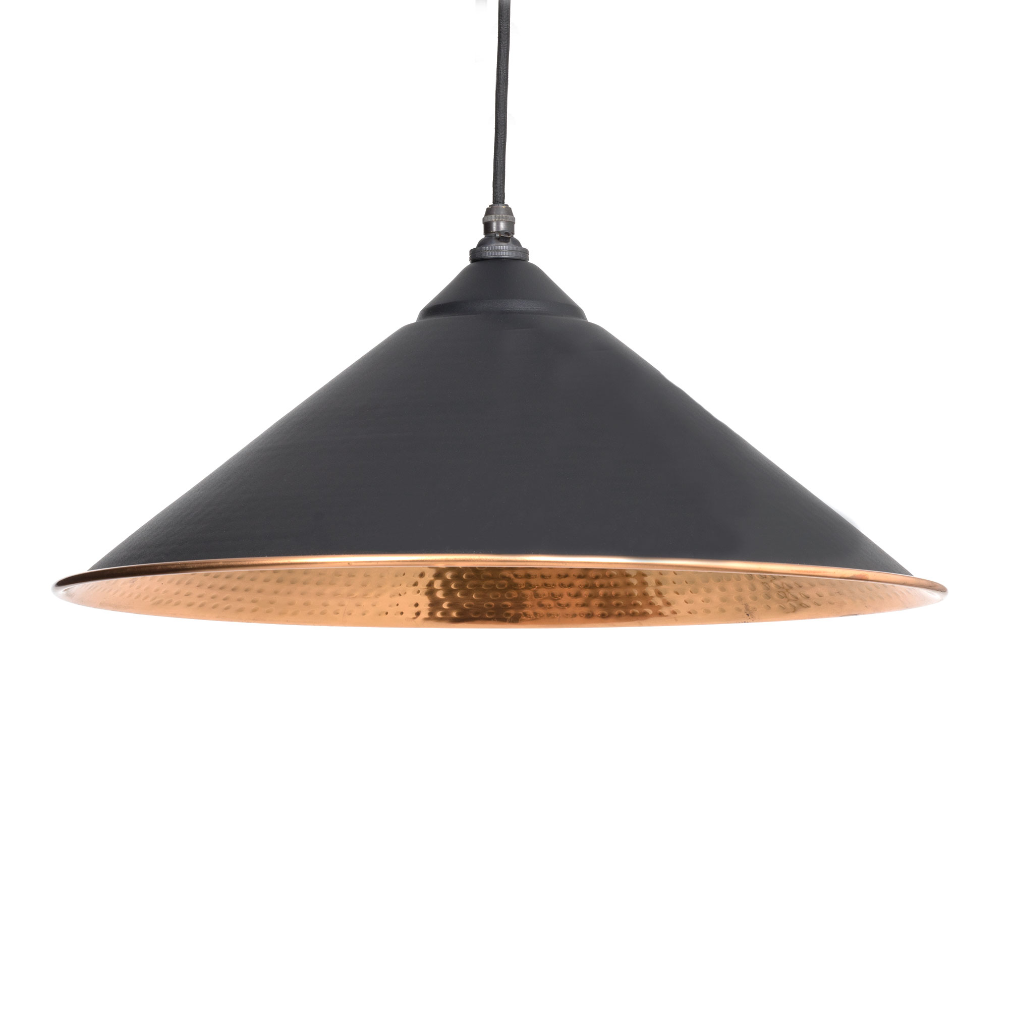 Yardley Pendant Hammered Copper Black & Copper