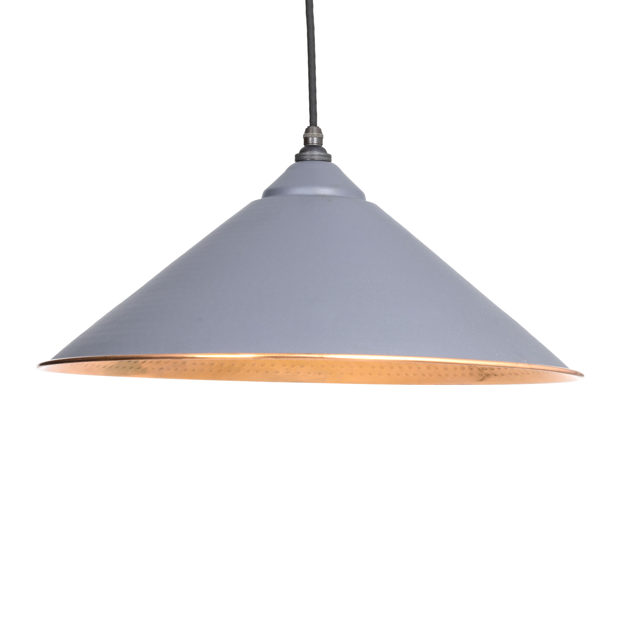 Yardley Pendant Hammered Copper Dark Grey & Copper