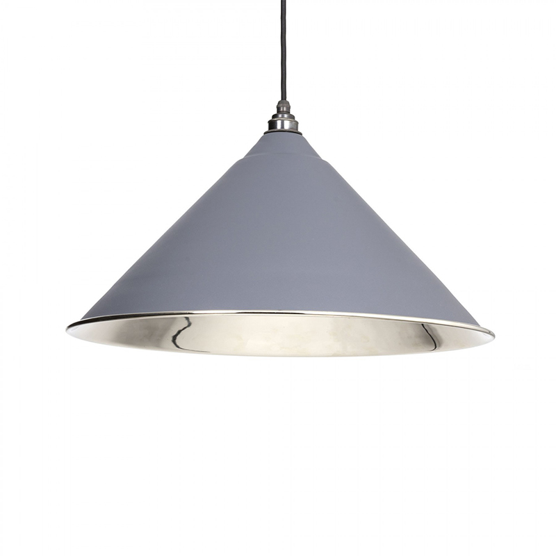 Hockley Pendant Nickel Dark Grey & Nickel