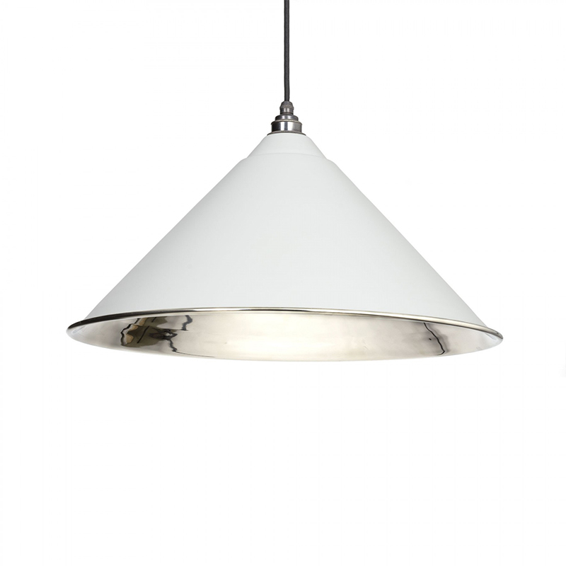 Hockley Pendant Nickel Light Grey & Nickel