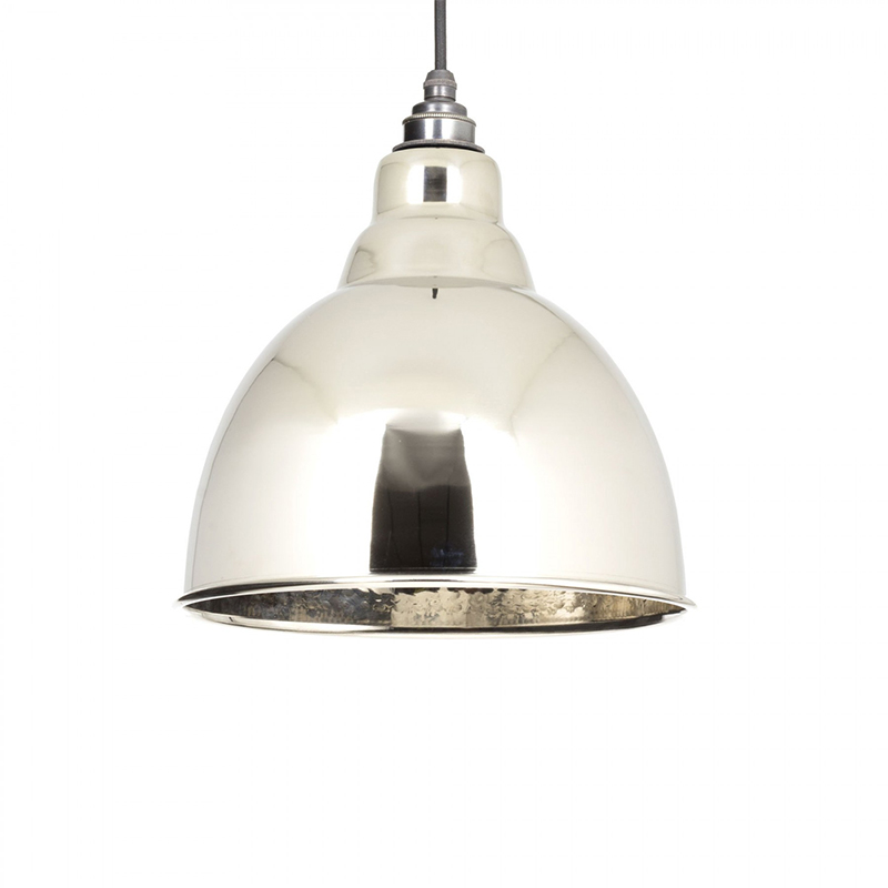 Brindley Pendant Hammered Nickel Hammered Nickel