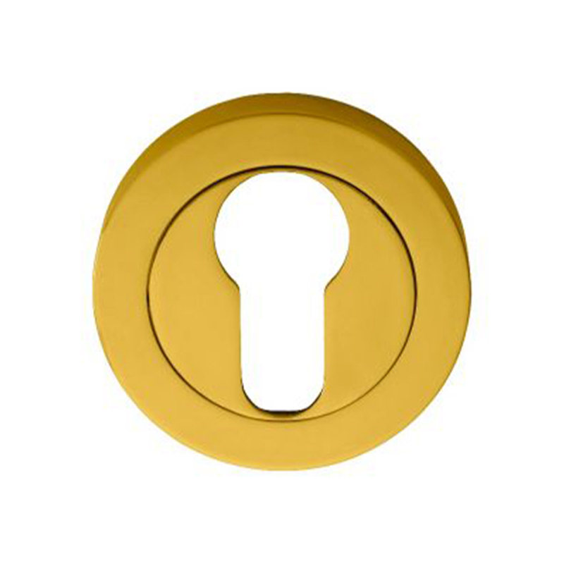Concealed Fix Euro Profile Escutcheon Polished Brass
