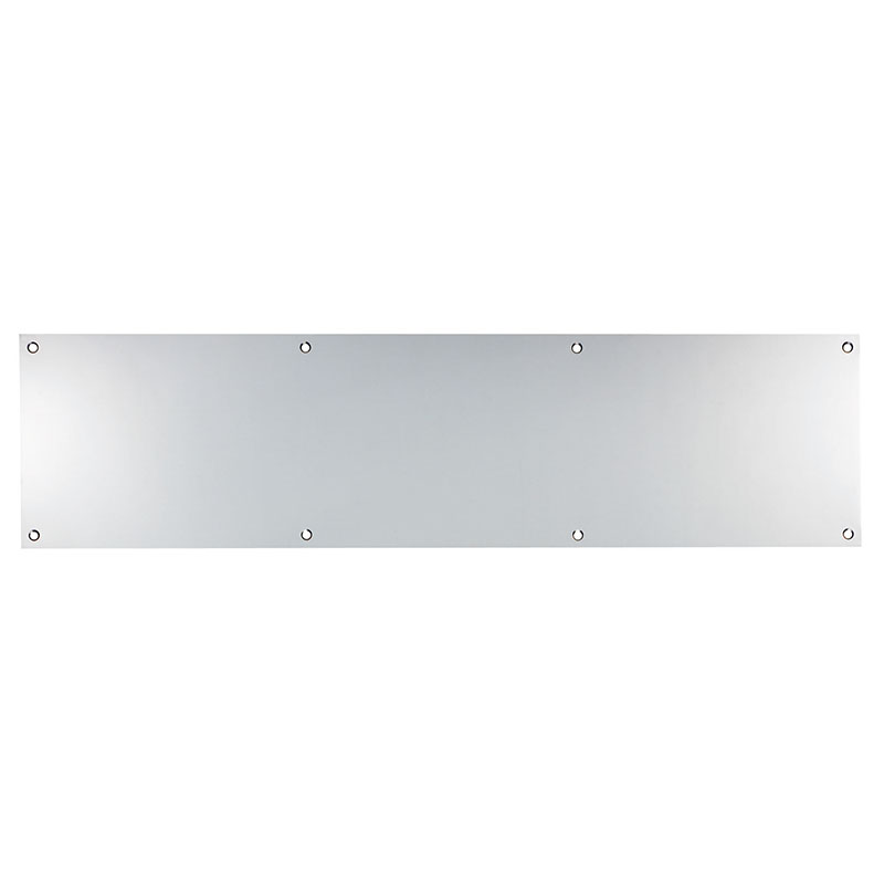 Plain Kicking Plate - 590mm x 150mm Bright Satin Stainless Steel