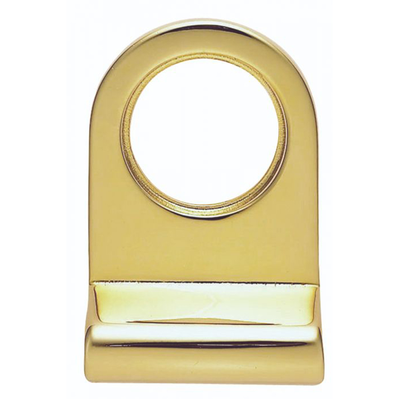 Cylinder Latch Pull - 72mm x 48mm Polished Brass